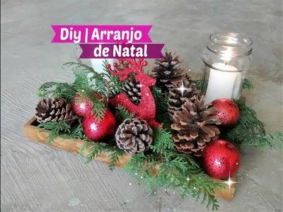 Diy Especial de Natal | Arranjo de Natal Gastando Pouco #projetodenatal | Carla Oliveira