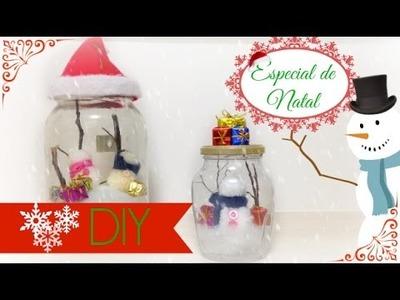 DIY - Jarra de natal - ESPECIAL DE NATAL