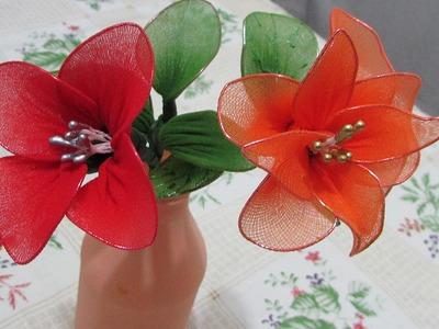 Artesanato: Como fazer flores de meia fina