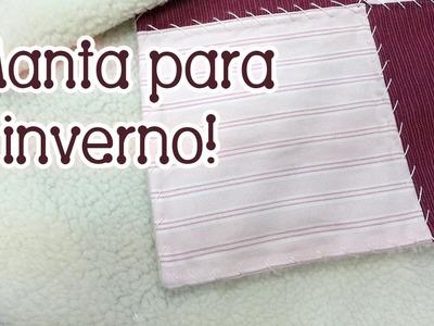 Patchwork Ao Vivo #60: manta de flanela com carapinha