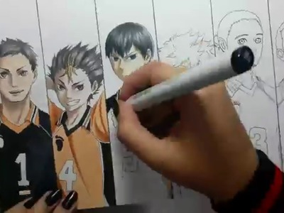 Speed Drawing - Karasuno Team (Haikyuu!)