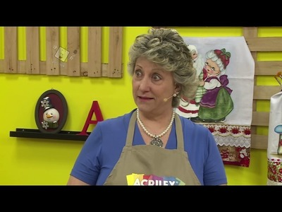 Ateliê na TV - Rede Brasil - 22.11.2016 - Glória Tommasi e Lourdes Cavalini
