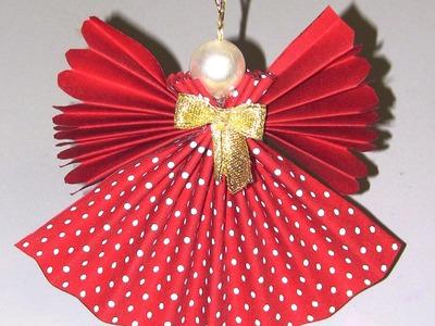 Anjo de tecido com tecnica de endurecimento - Angel of Christmas fabric