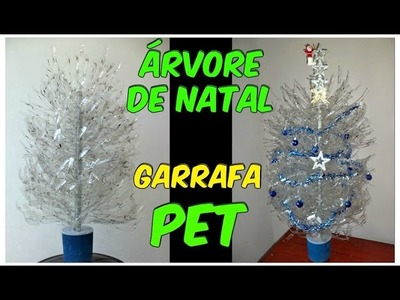 Árvore de natal feita de garrafa pet