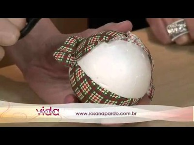Vida Melhor - Artesanato - Patwork em bola de isopor (Rosana Pardo)