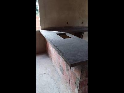 Bancada de concreto para cozinha