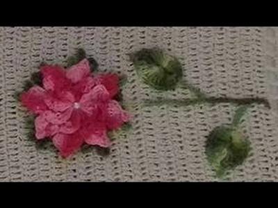 Como fazer aplicação de flores e folhas em Tapetes de barbante e outros trabalhos de croche