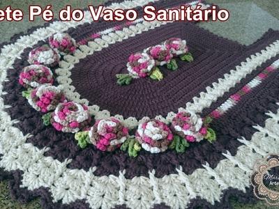 """Tapete Pé do Vaso Sanitário - Baronesa """"Marcia Rezende - Arte em Crochê"""" - 2.4"""
