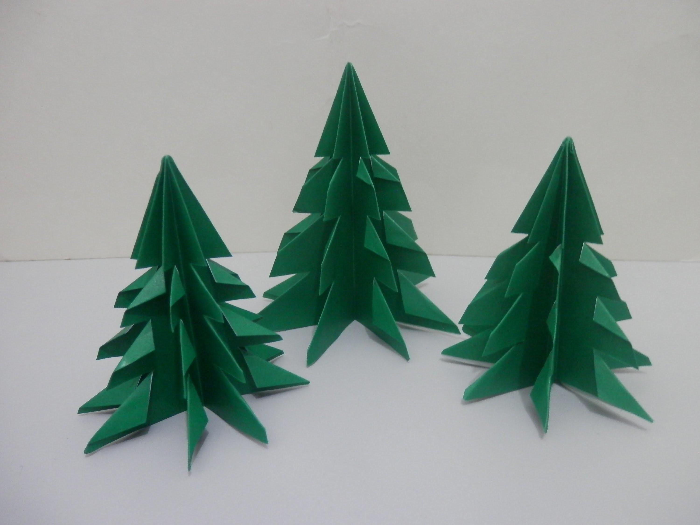Arvore de natal 2 - Origami - Passo a passo