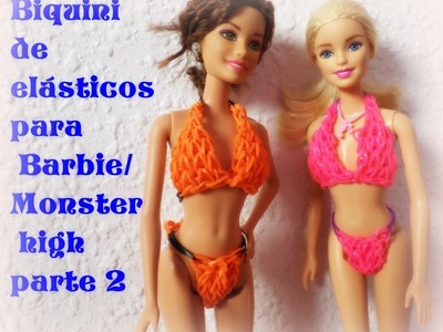 Biquini para Barbie,Monster high de elásticos parte 2