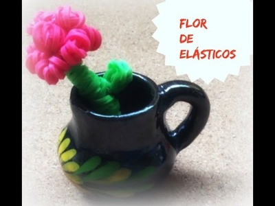 Flor de elásticos,sem tear
