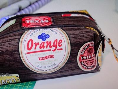 Necessaire de tecido Orange - Maria Adna Ateliê - Cursos e aulas de bolsas e necessaires