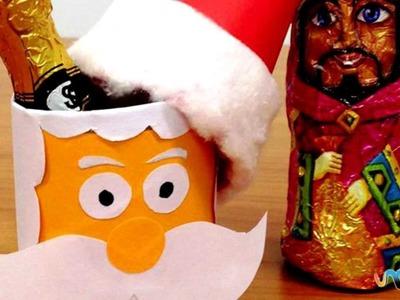Como fazer um pote de doces Papai Noel para o Natal