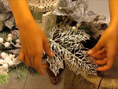 Decoração mesa de Natal 2015
