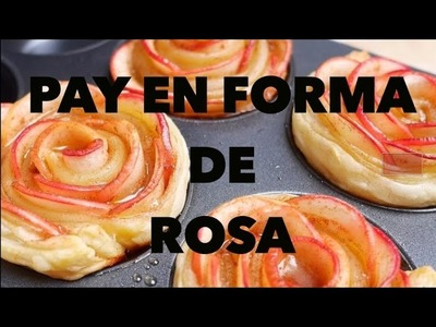 PAY DE MANZANA EN FORMA DE ROSA. EXPECTATIVA.REALIDAD