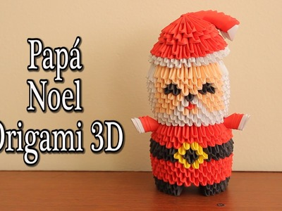 Santa Claus En Origami 3D TUTORIAL!