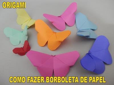 BORBOLETA COM DOBRADURAS DE PAPEL | ORIGAMI MUITO FÁCIL