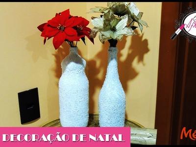 DIY - Decoração de Natal com Garrafas
