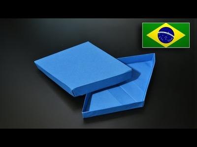 Origami: Caixa Diamante - Instruções em Português PT BR