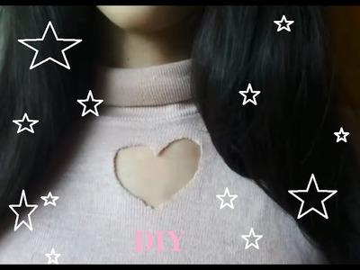 DIY|Costumize suas roupas-Cacharrel de Coração Kawaii