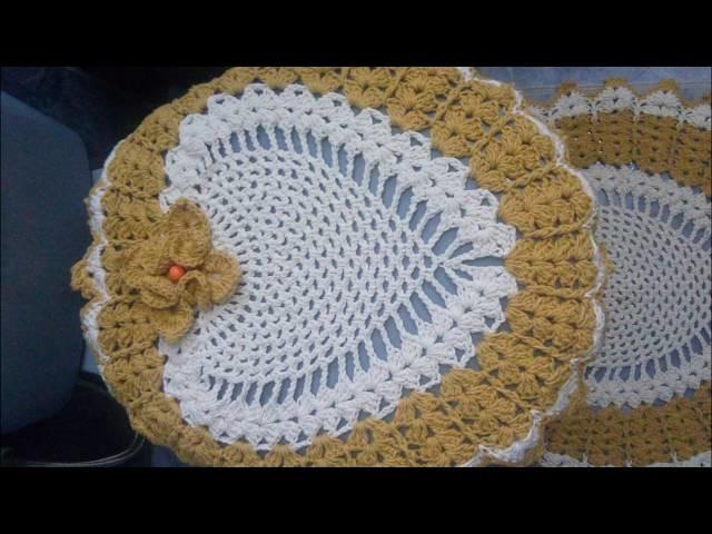 Jogo de banheiro em Crochê Flor Estrela