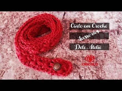 Cinto em Crochê by Claudete Azevedo