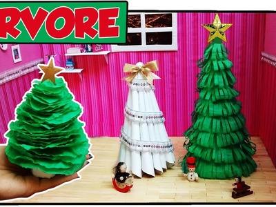 Como fazer: Árvore de Natal para bonecas Barbie, Monster High, Baby Alive etc.  #EspecialNatal