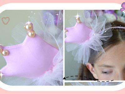 Como fazer tiara coroa de princesa