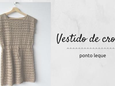Vestido de crochê - Ponto leque