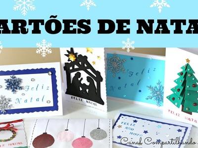 DIY: Cartões de natal  - 7 ideias criativas, fáceis e econômicas - Artesanato do Compartilhando Arte