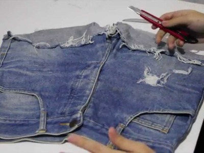DIY - Como Desfiar Seu Jeans passo a passo. How To Make A Destroyed Jeans step by step