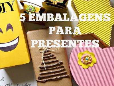 DIY: Como fazer embalagem para presente -  5 ideias criativas e econômicas -  Compartilhando Arte