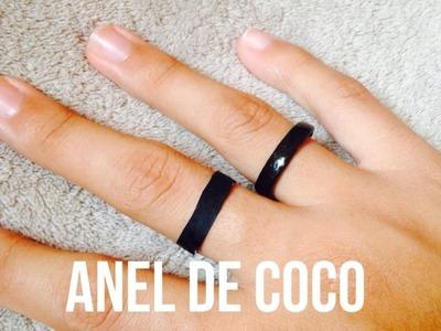 DIY:  como fazer um anel de côco falso de papel