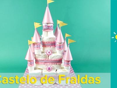 DIY Decoração de chá de bebê: Bolo de Fraldas de Castelo Encantado | Pampers BR