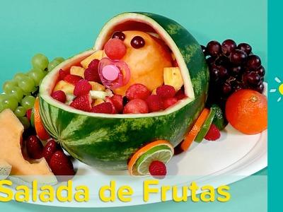 DIY Decoração de chá de fraldas: Salada de frutas de carrinho de bebê | Pampers BR