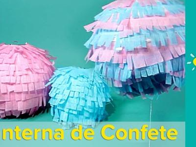 DIY Decoração para Chá de Bebê: Lanterna de Confete l Pampers
