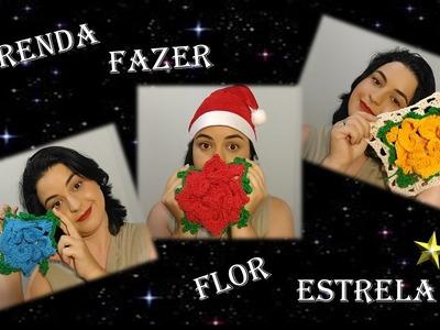 Flor Estrela em Crochê Passo a Passo