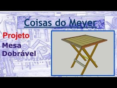 Mesa dobrável de Madeira - Parte #2