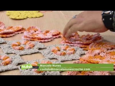 Mulher.com - 15.11.2016 - Borboleta em crochê para aplique - Marcelo Nunes P1