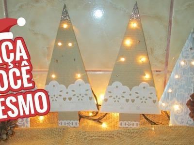 DIY ÁRVORE DE NATAL RÚSTICA de PAPELÃO Faça você mesmo Enfeites de Natal