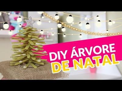 Diy - Como fazer árvore de natal com palito de picolé por Patrícia Braga