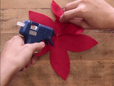 Enfeite de Natal em forma de flor com feltro. #DIY #VixDIY