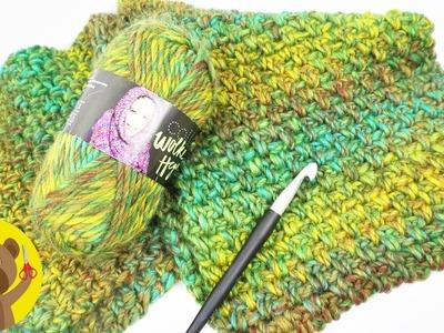 Cachecol grande de crochet   Padrão pérola   Fácil, bonito e macio
