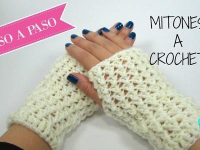 Mitones a crochet- fácil.
