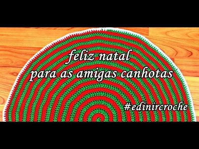⭐Tapete de Croche Natal Espiral – Aprender Crochê Canhotas – Left Handed Crochet