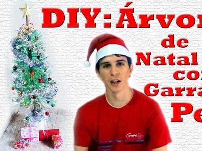 DIY Árvore de Natal com Garrafa Pet - Canal Desenrolando