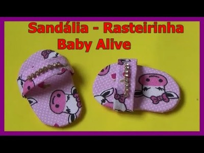 Como fazer sandália (sapatinho) para Baby Alive - por Lívia Sturnik