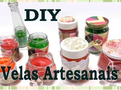 Como Fazer velas Aromáticas e Artesanais em potinhos fofos
