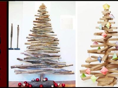 Especial de Natal 100 ideias de arvores com madeira reciclada