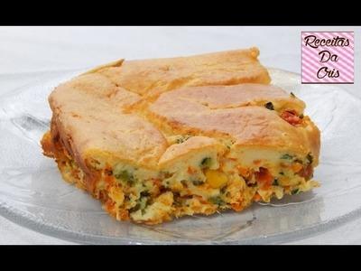 Torta de Frango Com Legumes!!